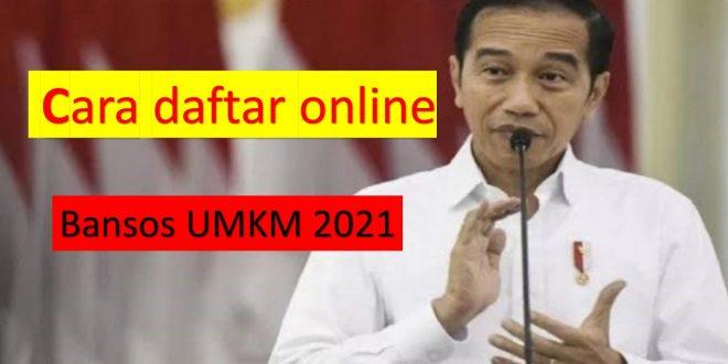 Begini cara daftar bansos online 2021