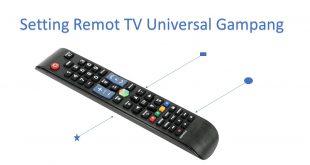 Cara setting remot TV universal